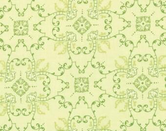 Bunny Hill Designs for Moda, Windsor Lane, Ornamental Scroll in Sprig Green 2843.18 - 1/2 Yard