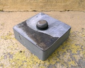 Gray Reliquary Box, Upcycled Metal and Found Objects