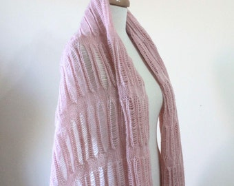 Knit Pink Shawl Winter Shawl Women  Accessories Fall Fashion Holiday Soft Scarf Wrap Very Soft Stole Gift Spring Fashion Wedding Shawl