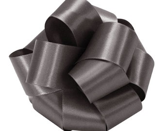 Offray Double-Face Satin - 5/8 inch - Pewter (dark silver) - 3 yds