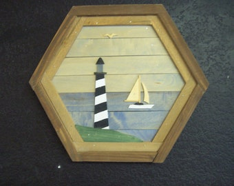 Lighthouse - Large Hex Frame