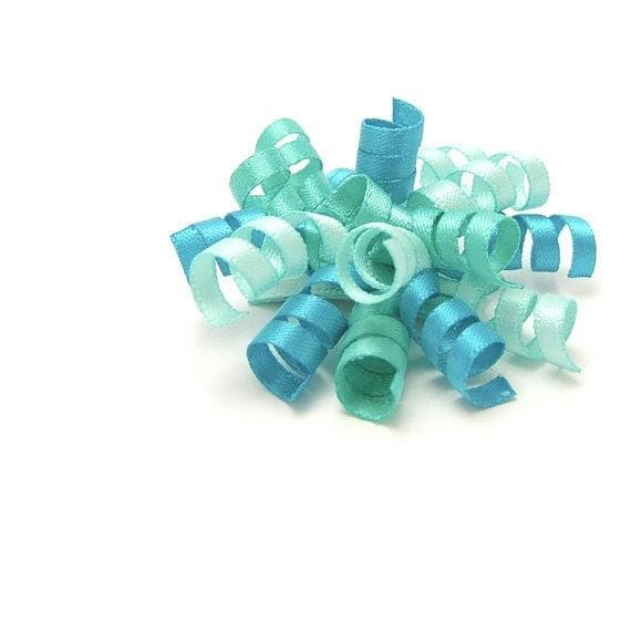 Aqua Mini Korker, Satin Korker Bow, Aqua Korker Clip, Pantone 2012 Cockatoo