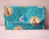 Lovely bird Mini Snap Wallet (Blue)