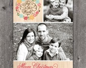 Joy Wreath - DIGITAL Custom Christmas Holiday Photo Card
