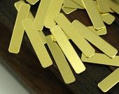 100  Raw Brass Rectangle Blank (20x4 Mm) A0476