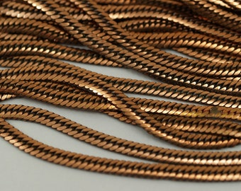 Vintage Copper Chain, 2 Meters- 6.6 Feet Vintage Copper Plated Brass Chains (4mm) Z104