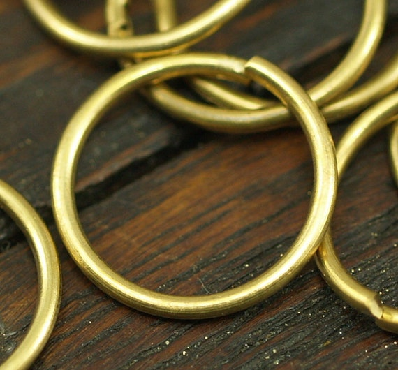 10mm Jump Ring - 100 Raw Brass Jump Rings (10x0.85mm) A0324