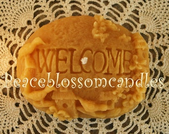 Beeswax Candle Welcome Rock Shaped Candle