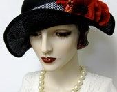 Bicorn Bumper Hat with Poppies
