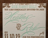 Chic Fold Out Lace Custom Wedding Invitation with Die Cut Pocket