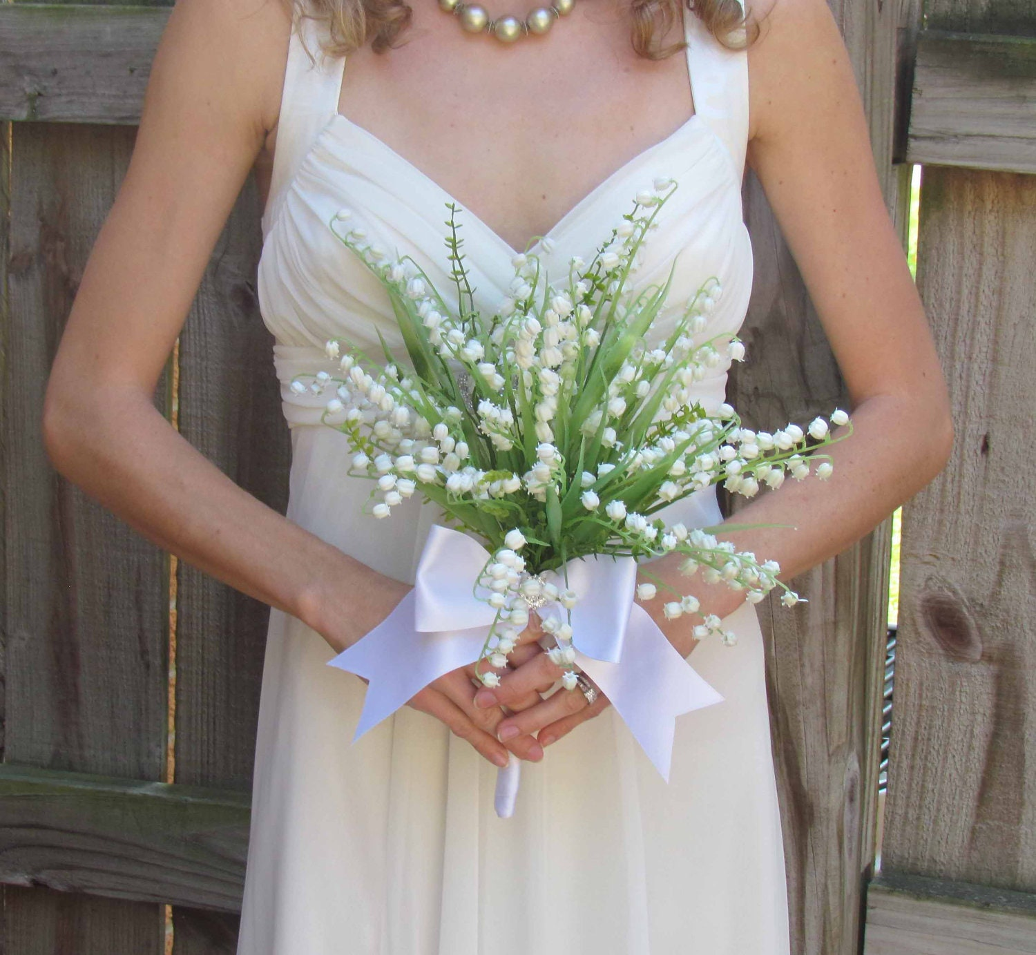Lily Of The Valley Bouquet: Lily Of The Valley Wedding Bouquet SALE PRICED Ready To Ship