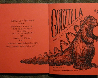 Godzilla King of the Monster 6 page new wave zine