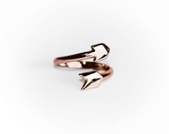 SALE - ARROW Ring - New color - Rose Gold