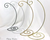 Large Spiral Base Ornament Stand in Black,  Silver, Antique Gold, or Bright Brass