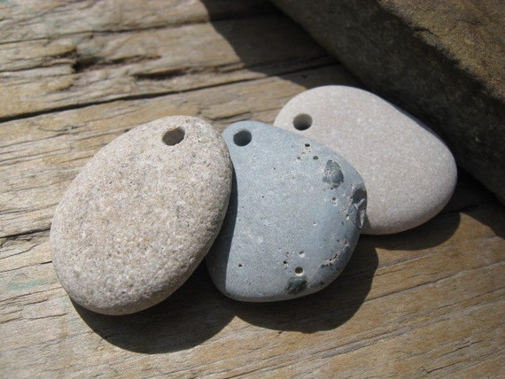BEACH BUMS Beach Stone Pendants Beads Charms