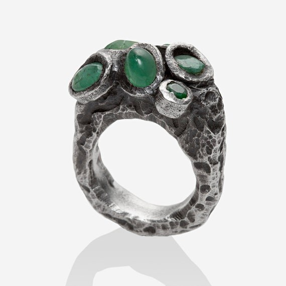 items similar to carved emerald ring on etsy