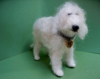 SPECIAL LISTING for Debbie... 2 Golden Doodle Felted Wool Dog Ornament/Figurine Pictures attached