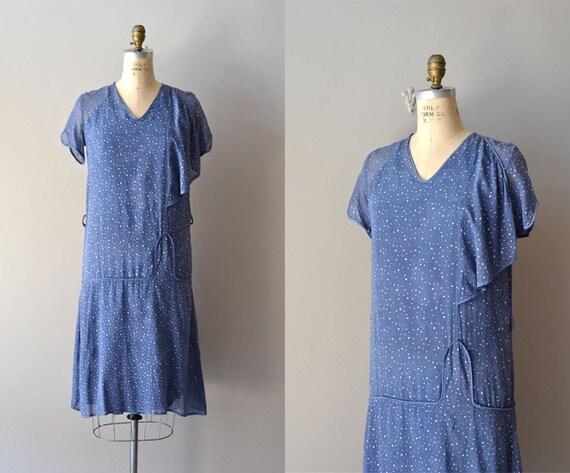 1920s dress / cotton 20s dress / Celestial Guide dress