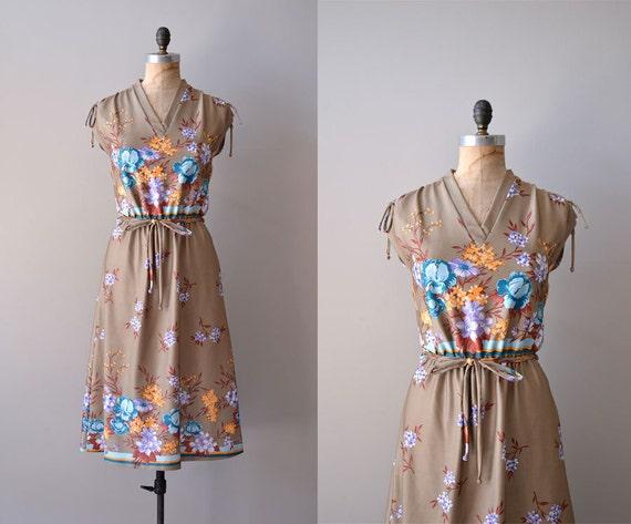 1970s dress / 70s floral dress / Kejara dress