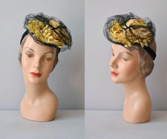 1930s hat / tilt hat / doll hat / Bright Mums hat