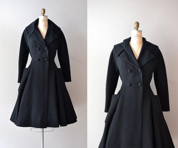 1950s princess coat / 1950s coat / Grand Tour wool coat