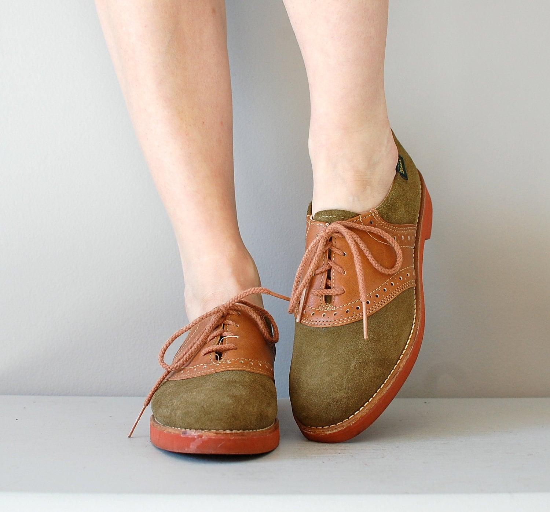 Oxford Shoes Vintage Bass Oxfords Saddle Shoes