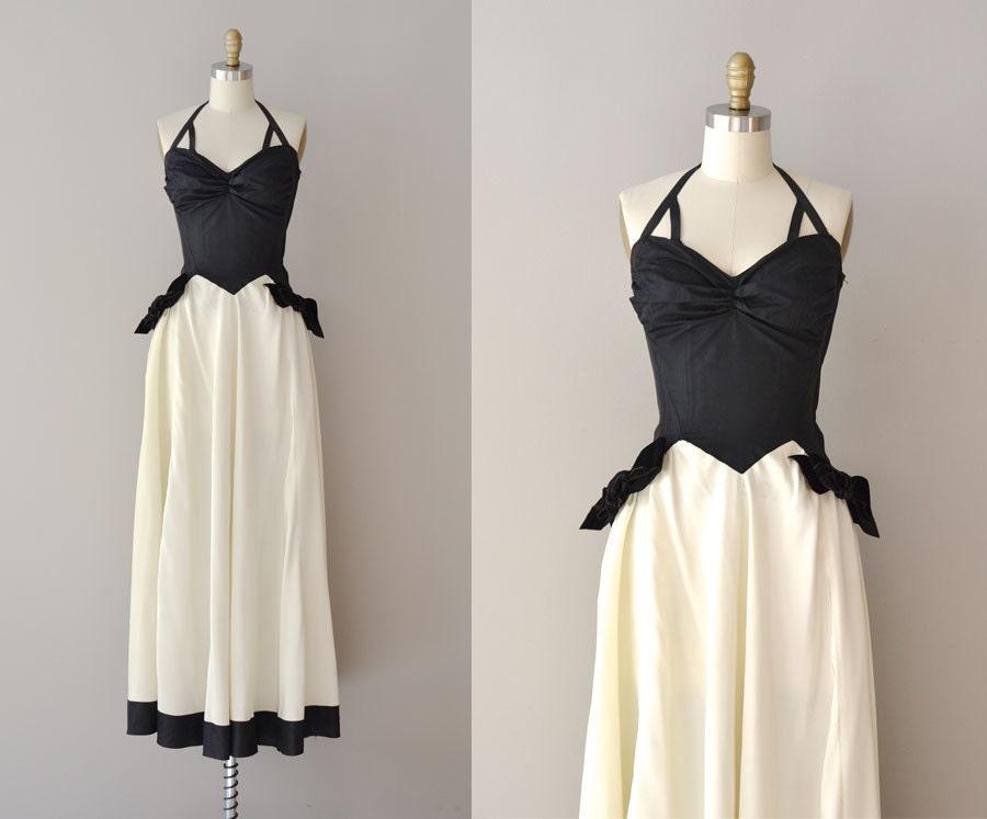 Vintage 30s Dress 1930s Dress Allegretto Gown