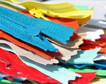 25 Assorted 3 inch Doll Zipper - YKK #3 nylon Zippers~ Assortment of Colors~ Closed Bottom~ZipperStop Wholesale Authorized Distributor YKK®