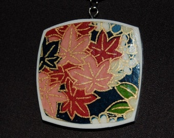 Oriental Inspired Polymer Clay Pendant
