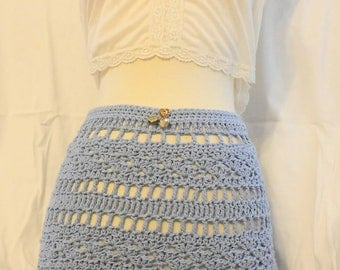 """Yard Sale - Crochet Skirt  Smart Little Hand Crochet Skirt,   28"""" Waist"""
