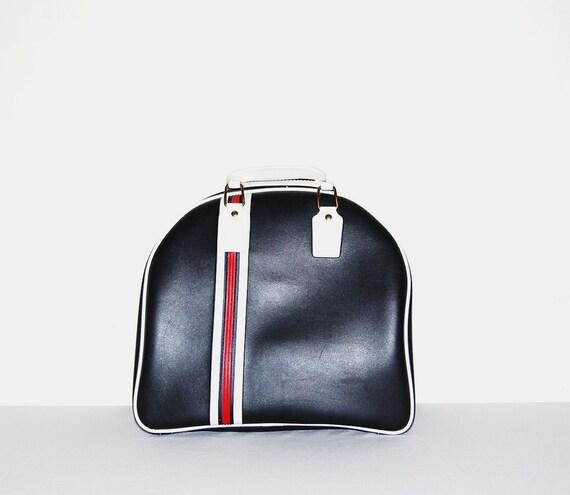Vintage Bowling Bag Retro Stripe