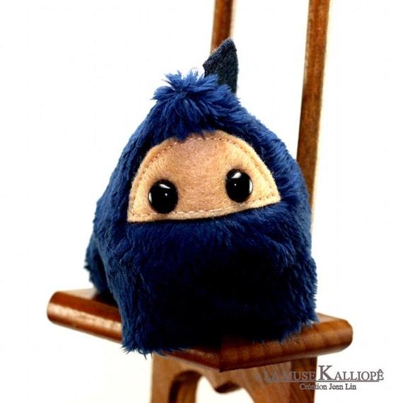 Stuffed Ninja Dragon Monster w/ Ninja Mask - MIdnight navy blue