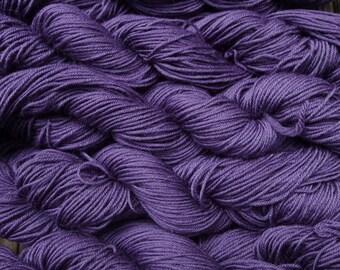 Pure wool  yarn, sport weight --- purple ,  5 skein, 9 oz.  superwash