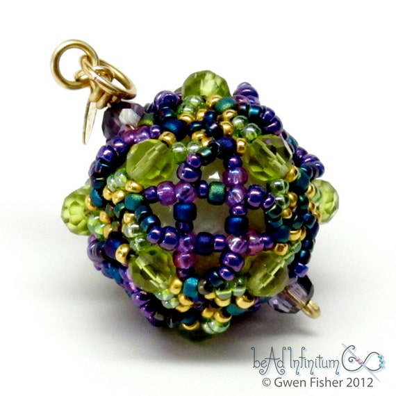 Chiral Octahedral Symmetry Beaded Pendant