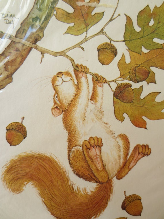 Vintage Invitations, All Occasion Party Invites, Squirrel Image, Fall Themed Invitations