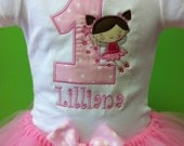 Girls Custom Princess Fairy Birthday Tutu and Applique Onesie or Shirt