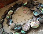 Full Strand - Beautiful Abalone Coin Beads