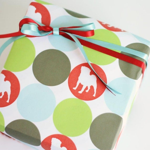 Custom Dog Silhouette Wrapping Paper