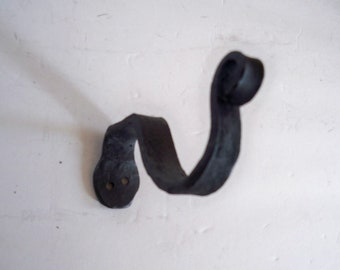 Curtain rod black iron hooks for a ONE inch dowel 3 inch projection sold as a pair