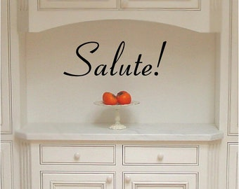 Salute (Health/Well-being) Italian phrase wall saying vinyl lettering