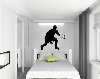 Basketball Wall Decal Customizablev vinyl sticker