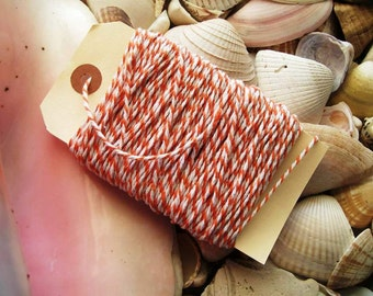 Bakers Twine-25 yards- orange and White