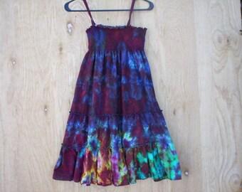 Childrens Tie Dye Summer Dress / Skirt
