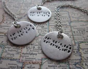 The Genevieve Necklace - Custom Coordinates Necklace