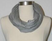 Heather gray loop - infinity scarf