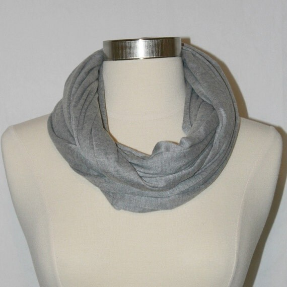 Reserved for Sara- Heather gray loop - infinity scarf