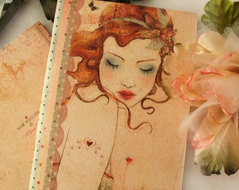 Mini notebook - A6 notebook - Lolita