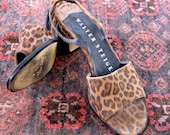 Vintage Leopard Print Walter Steiger Sandals size 6  5  from Basia's Private Collection