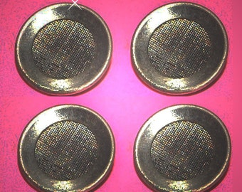 Vintage 2 Steampunk Antique Silver Plated Screened  22MM Buttons H1L
