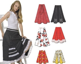 Misses Skirts Sewing Pattern - New Look 6944 - Size 4 to Size 16 - Uncut, Factory Folds